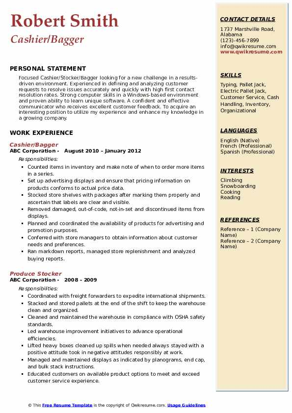 Stocker Resume Samples Qwikresume