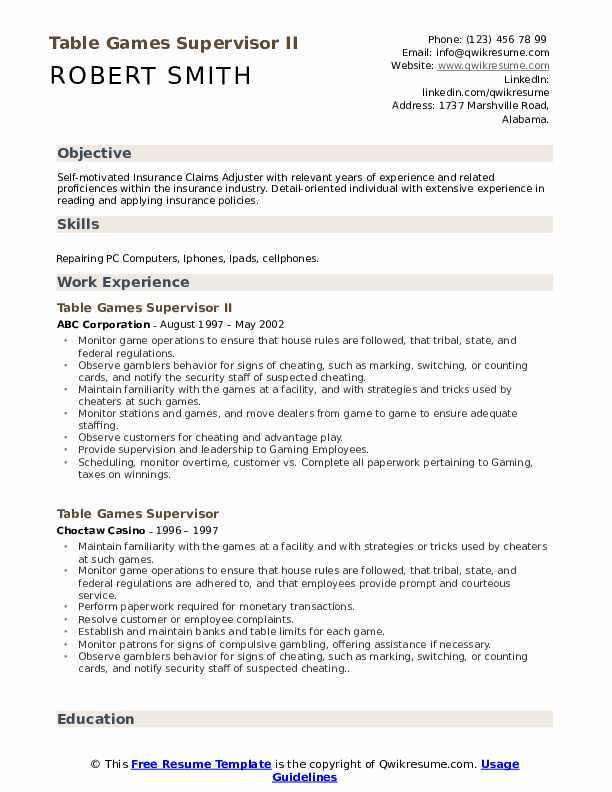 Casino Host Resume Samples Qwikresume