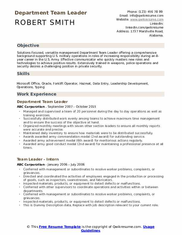Affordable Templates Team Roles And Responsibilities Template