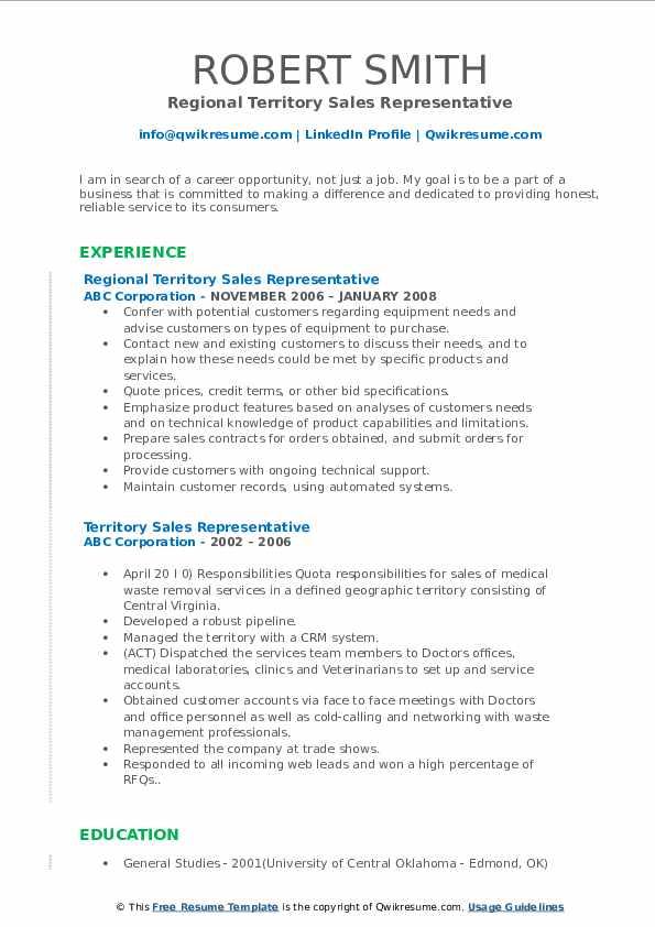 Purchase representative resume