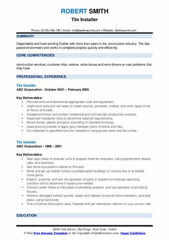 Tile resume best term paper writers site ca