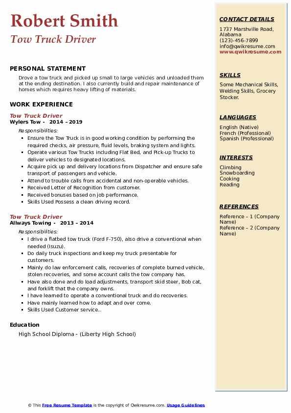 Safety Valve Technician Resume Example