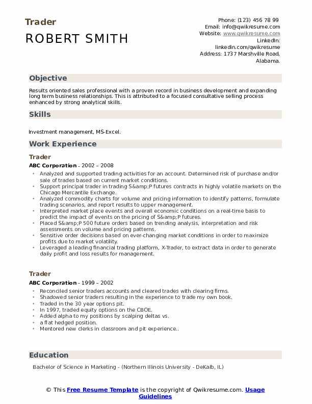 Assistant trader resume example slade gellin dissertation