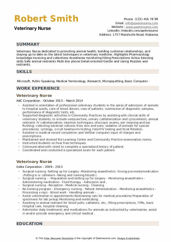 Veterinary resume writing objectives for resume of software engineers