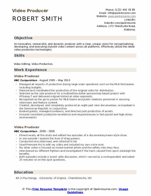 Resume for video production samples best college essay writing services