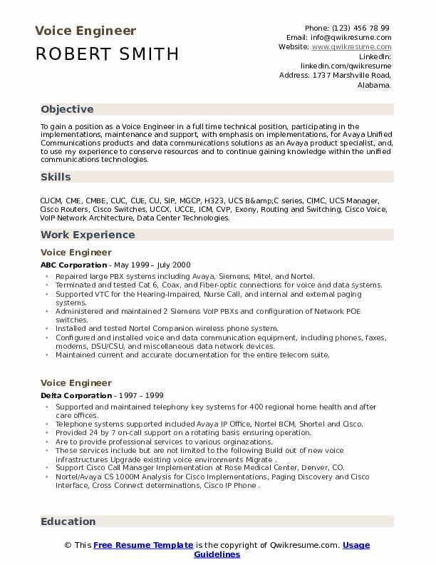Avaya voip engineer resume analysis of evidence essay