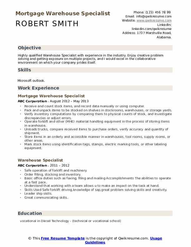 Mechanic Assistant Resume Format
