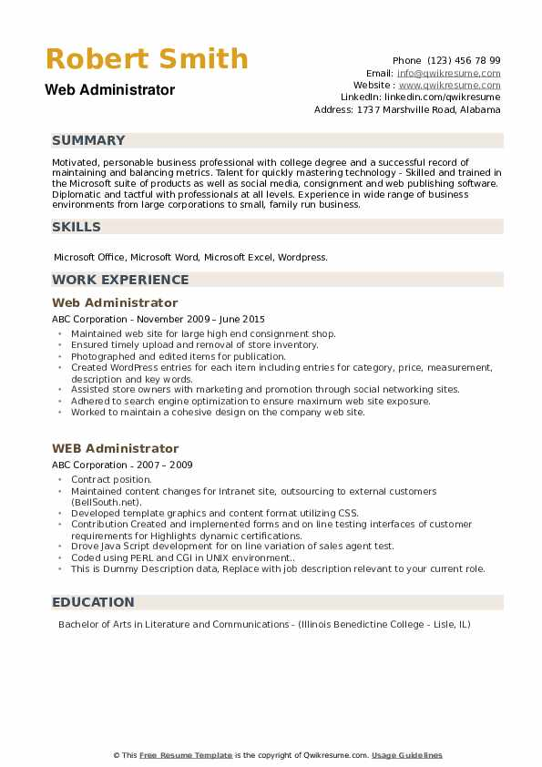 IT Asset Manager Resume example