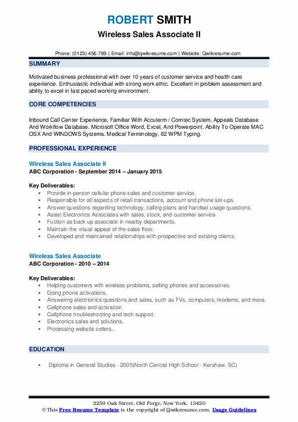 cellular resume