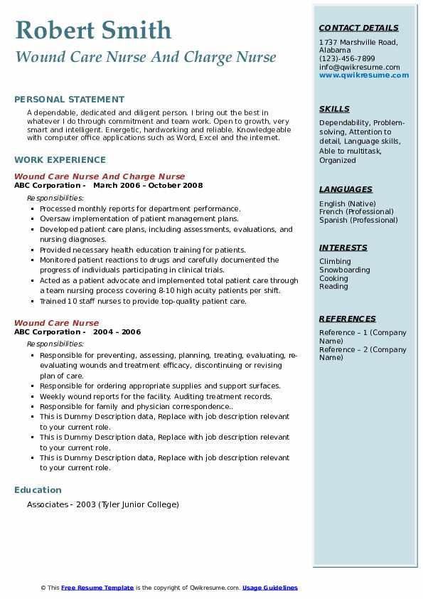 floor nurse resume samples  qwikresume