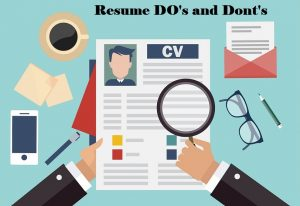 Five Do's and Don'ts for Writing a Great Resume