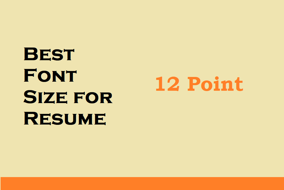 what is the best font size to use on a resume