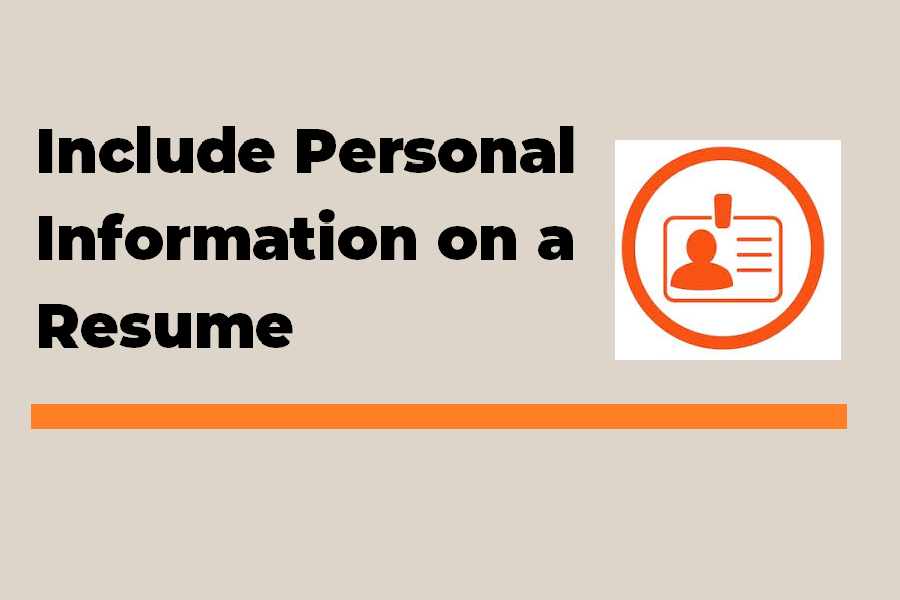 How to include Personal Details in a Resume