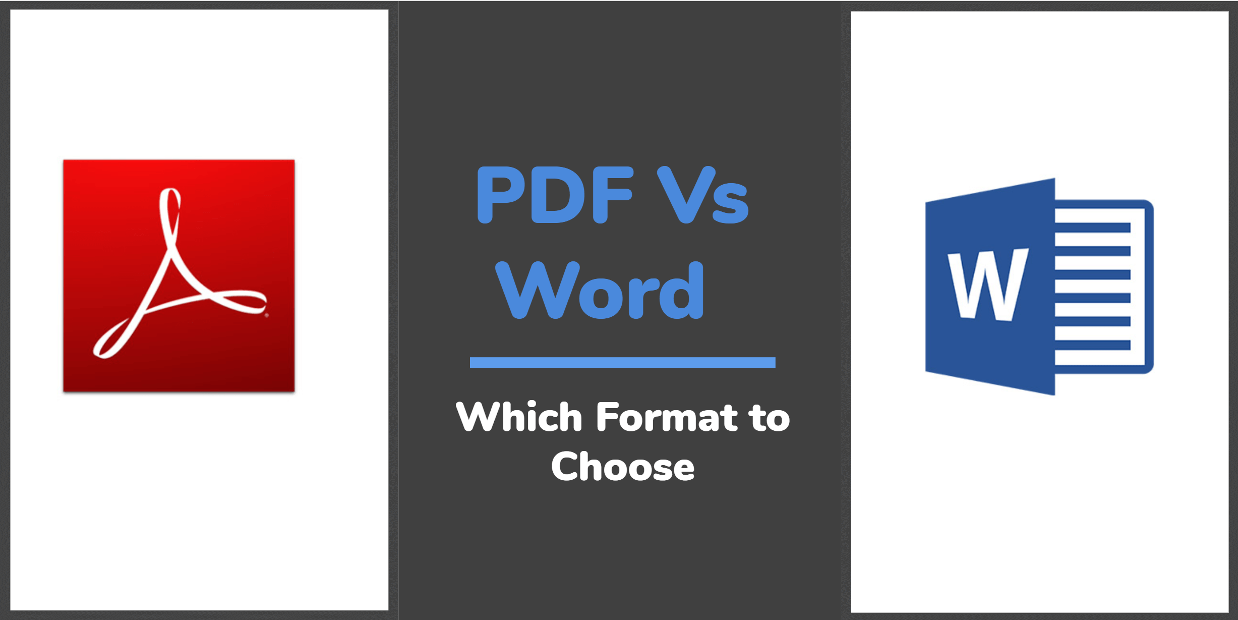 PDF Vs Word? Which File Format to Use for your Resume