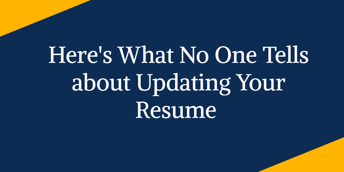 12 Reasons to Update your Resume