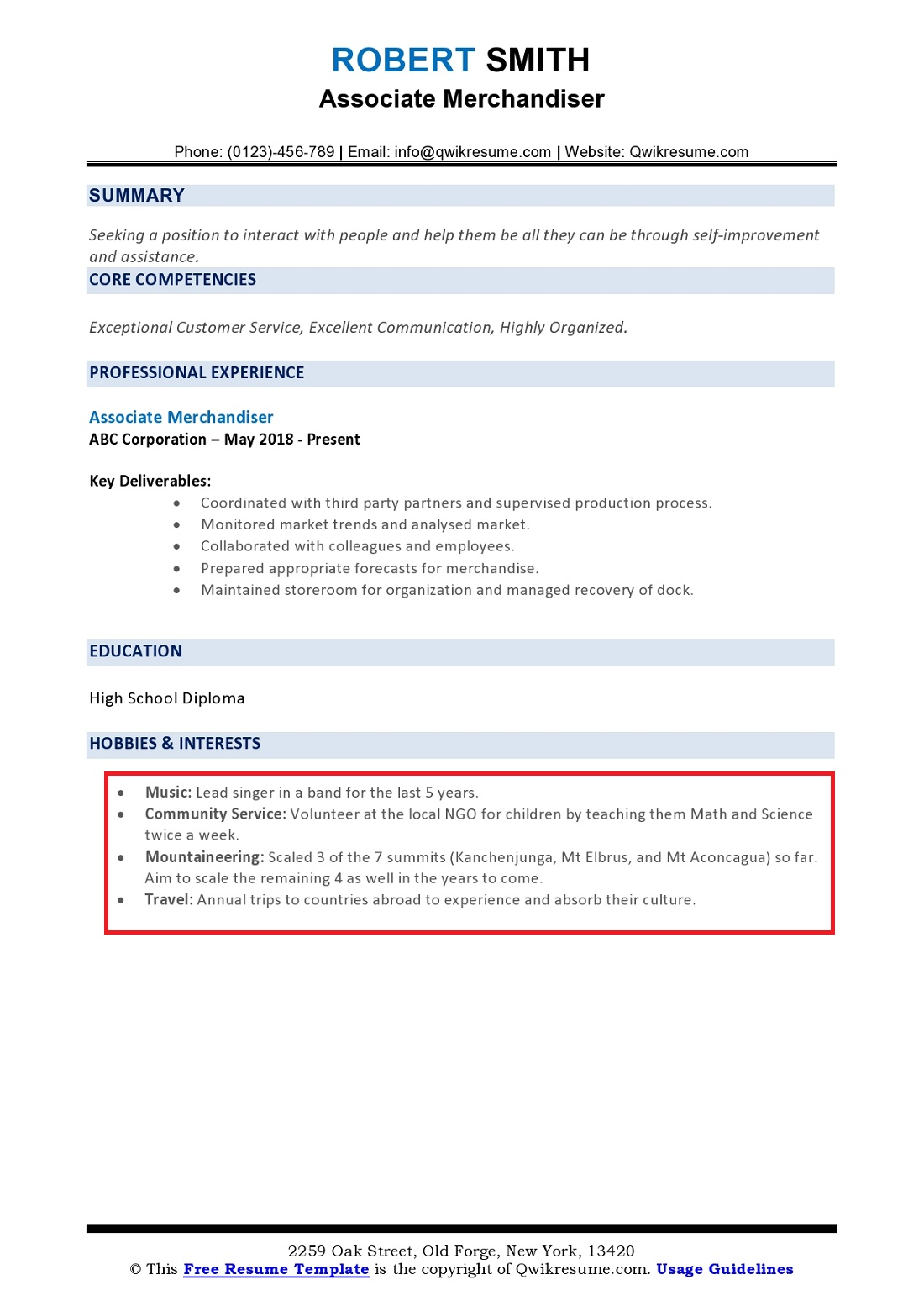 hobbies and interests on resume  how to list  examples