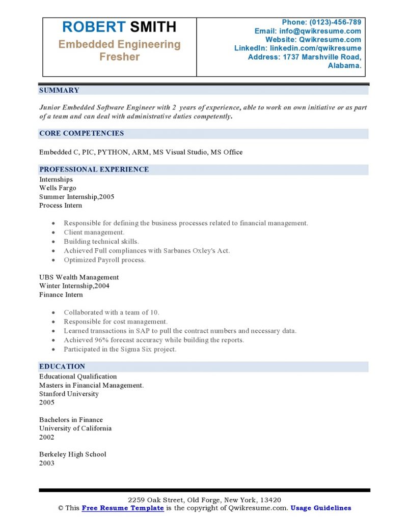 internship-on- resume-sample2